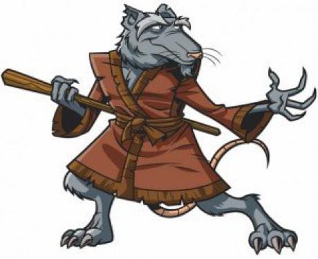 Ausmalbild Splinter eine mutierte Ratte  Ausmalbilder